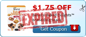 $1.75 off Beneful Baked Delights™ brand Dog Snack