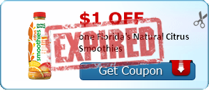 $1.00 off one Florida's Natural Citrus Smoothies