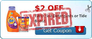 $2.00 off TWO Tide Detergents or Tide Boost