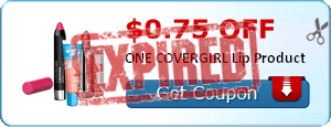 $0.75 off ONE COVERGIRL Lip Product