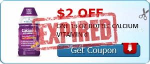 $2.00 off ONE 16 OZ BOTTLE CALCIUM & VITAMIN d