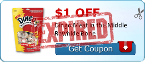 $1.00 off Dingo Meat in the Middle Rawhide Bone