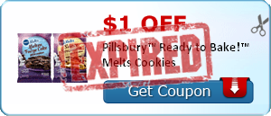 $1.00 off Pillsbury™ Ready to Bake!™ Melts Cookies