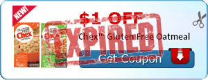 $1.00 off Chex™ Gluten Free Oatmeal