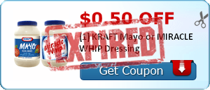 $0.50 off (1) KRAFT Mayo or MIRACLE WHIP Dressing