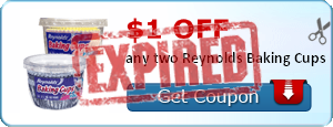 $1.00 off any two Reynolds Baking Cups