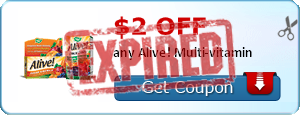 $2.00 off any Alive! Multi-vitamin