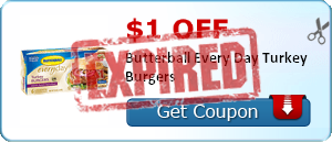 $1.00 off Butterball Every Day Turkey Burgers
