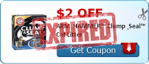 $2.00 off ARM & HAMMER™ Clump & Seal™ Cat Litter