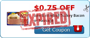 $0.75 off one Butterball Turkey Bacon or Sausage