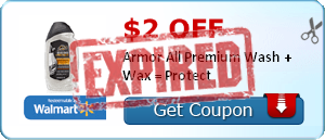 $2.00 off Armor All Premium Wash + Wax = Protect