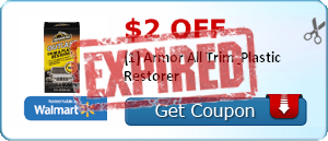 $2.00 off (1) Armor All Trim & Plastic Restorer