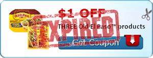 $1.00 off THREE Old El Paso™ products
