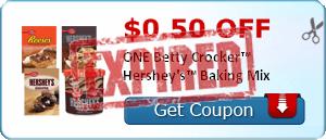 $0.50 off ONE Betty Crocker™ Hershey's™ Baking Mix