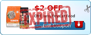$2.00 off ONE Iams Dry Cat Food