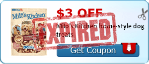 $3.00 off Milo's Kitchen home-style dog treats