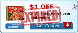 $1.00 off CHILI'S Single Serve Frozen Food Product