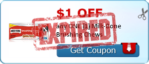 $1.00 off any ONE (1) Milk-Bone Brushing Chews