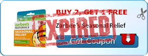 Buy 2, get 1 Free Zarbee's Seasonal Relief