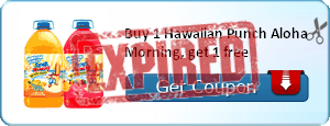 Buy 1 Hawaiian Punch Aloha Morning, get 1 free