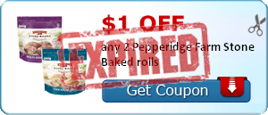 $1.00 off any 2 Pepperidge Farm Stone Baked rolls