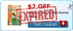 $2.00 off any Nutri Dent Edible Dental Chews