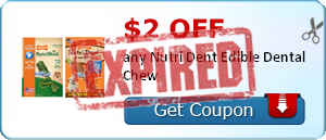$2.00 off any Nutri Dent Edible Dental Chew