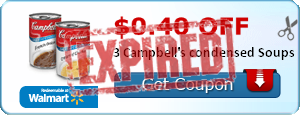 $0.40 off 3 Campbell's condensed Soups