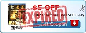 $5.00 off Runner Runner DVD or Blu-ray