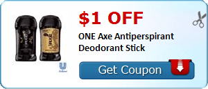 $1.00 off ONE Axe Antiperspirant Deodorant Stick