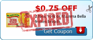 $0.75 off 2 New York or Mamma Bella frozen breads