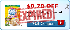 $0.70 off any ONE Kellogg's Frosted Mini-Wheats