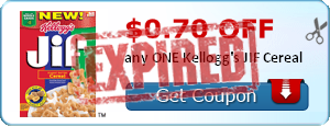 $0.70 off any ONE Kellogg's JIF Cereal