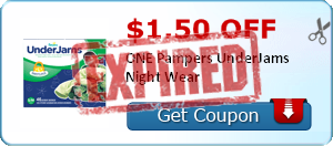 $1.50 off ONE Pampers UnderJams Night Wear