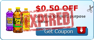 $0.50 off one Pine-Sol multi-purpose cleaner