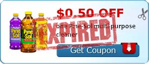 $0.50 off one Pine-Sol multi-purpose cleaner