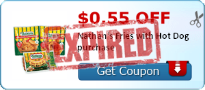 $0.55 off Nathan's Fries with Hot Dog purchase