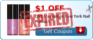 $1.00 off ONE Maybelline New York Nail Product