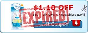 $1.10 off ONE Febreze Noticeables Refill