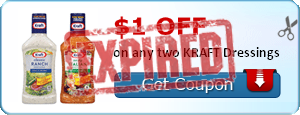 $1.00 off on any two KRAFT Dressings