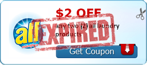 $2.00 off any two (2) all laundry products