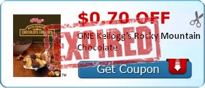 $0.70 off ONE Kellogg's Rocky Mountain Chocolate