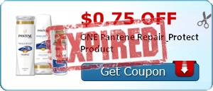 $0.75 off ONE Pantene Repair & Protect Product