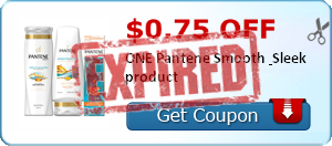 $0.75 off ONE Pantene Smooth & Sleek product