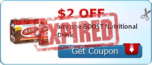 $2.00 off any one BOOST Nutritional Drink
