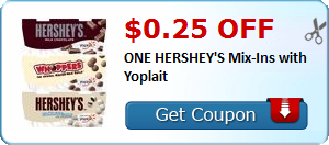 $0.25 off ONE HERSHEY'S Mix-Ins with Yoplait