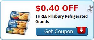 $0.40 off THREE Pillsbury Refrigerated Grands