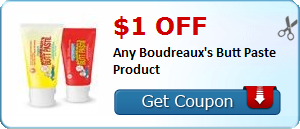 $1.00 off Any Boudreaux's Butt Paste Product