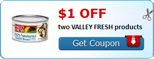 $1.00 off two VALLEY FRESH products