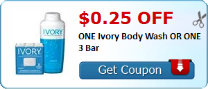 $0.25 off ONE Ivory Body Wash OR ONE 3 Bar